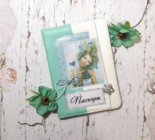 Обложка на паспорт из искусственной кожи