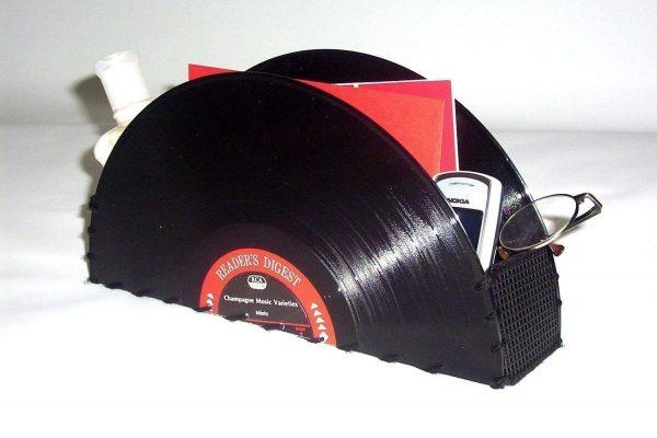 Органайзер из виниловых пластинок