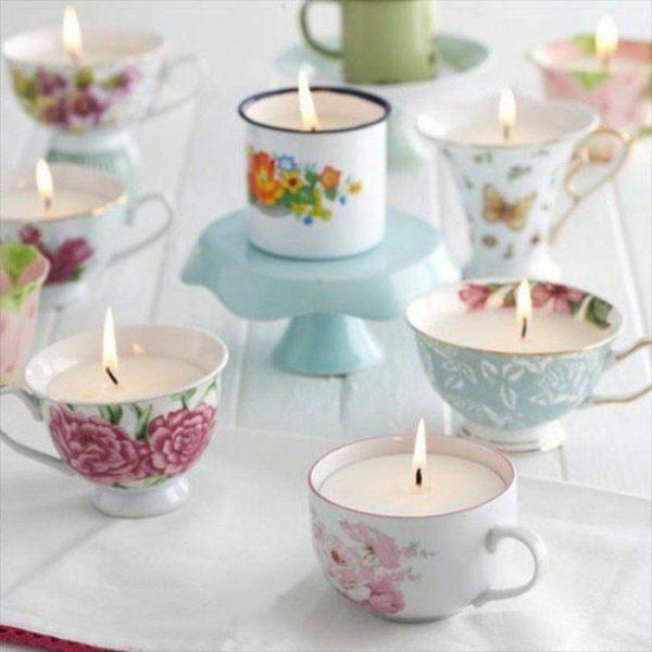 Свечи в чашечках