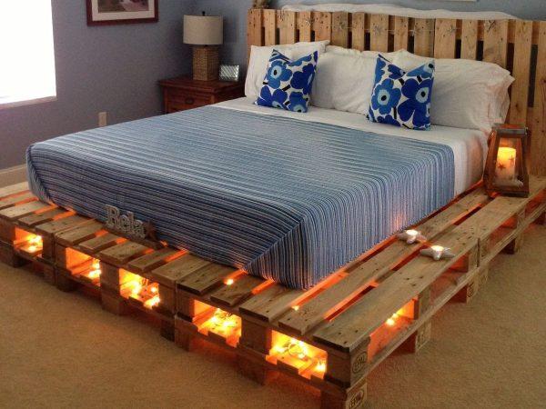 Подиум для кровати из поддонов