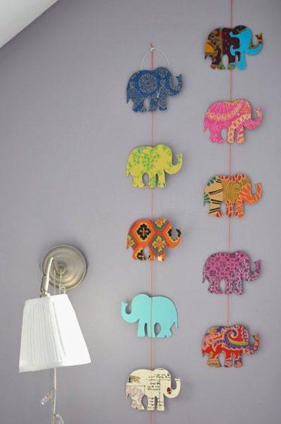 Гирлянда со слонами
