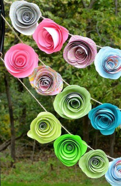 Разноцветные розочки