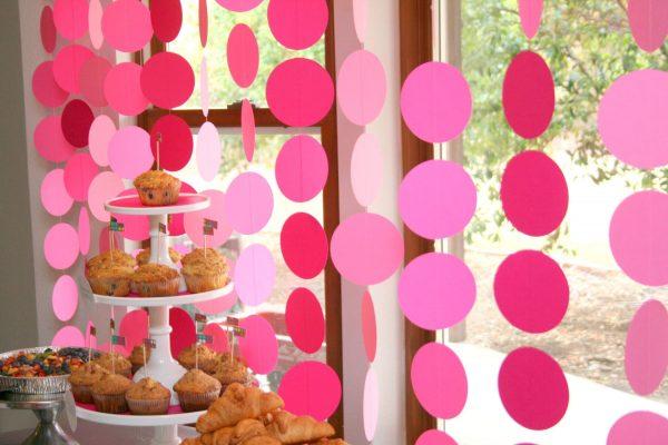 Розовые кружочки