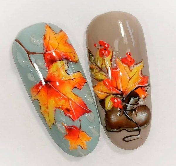 Дизайн с кленовыми листиками