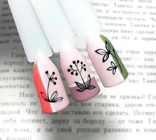 Растения на ноготках