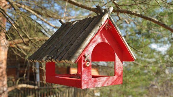 Красный домик с номером
