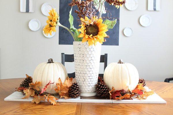 Осенняя композиция с подсолнухами