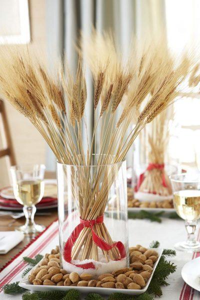 Пшеница в качестве украшения стола
