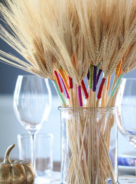 Пшеница с ярким основанием