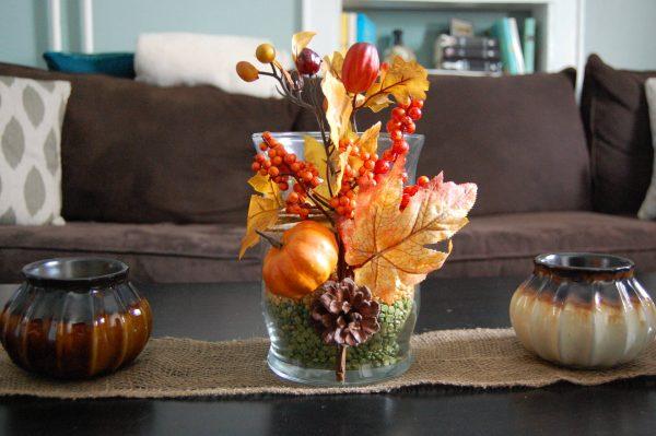 Осенний декор вазы