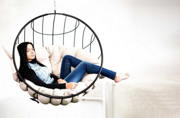 Круглое кресло с матрацем