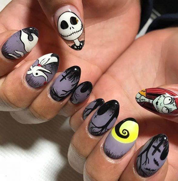 Герои на ногтях