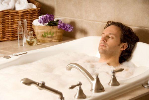 вред горячей ванны для мужчин