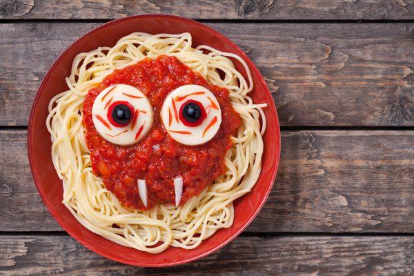 Спагетти на Хэллоуин