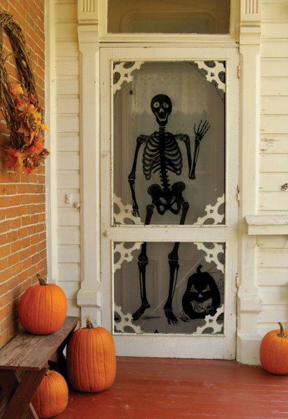 Наклейка со скелетом