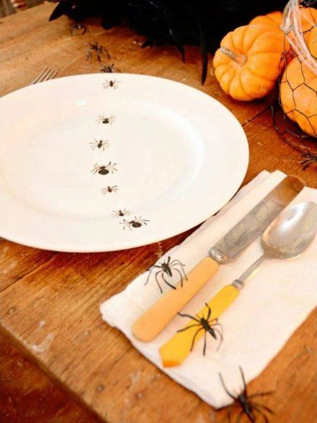 Пауки на тарелке