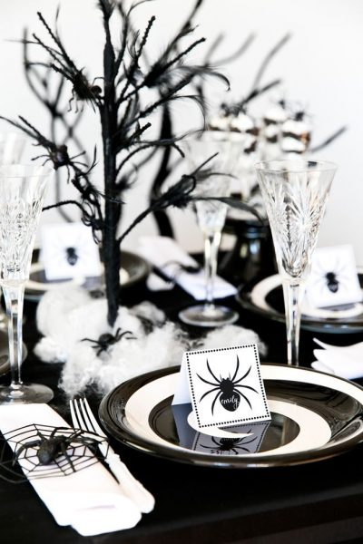 Сервировка стола к Хэллоуину