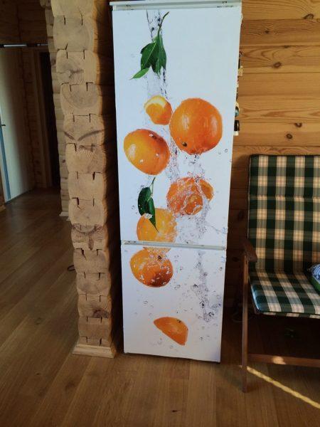 Виниловая плёнка с апельсинами
