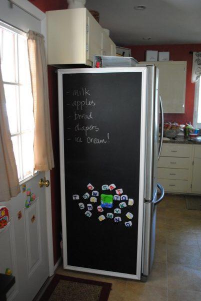 Грифельная доска на весь холодильник