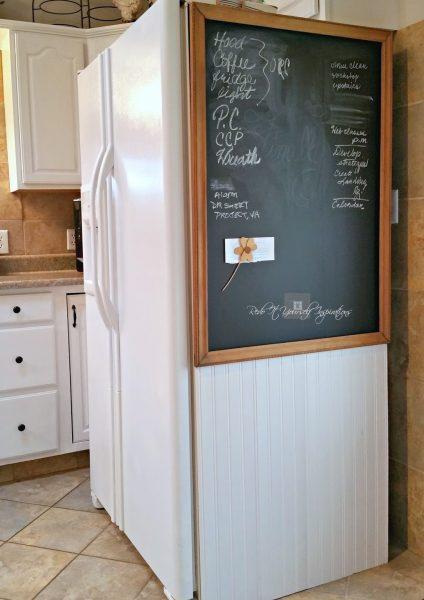 Грифельная доска на холодильнике