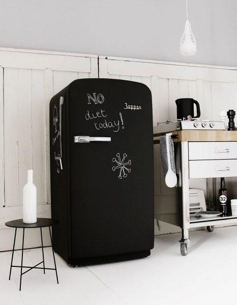 Холодильник с грифельной краской