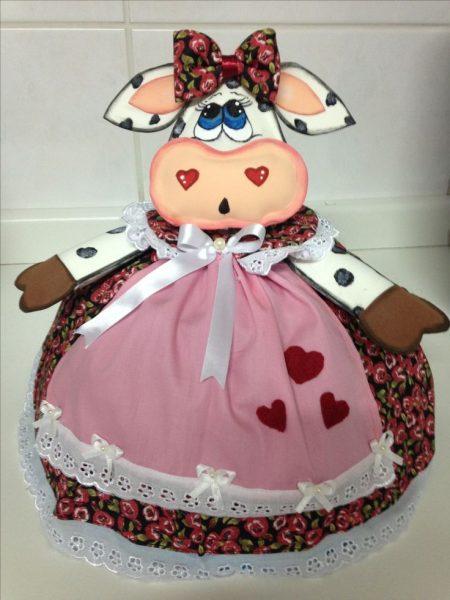 Кукла-грелка в виде коровы