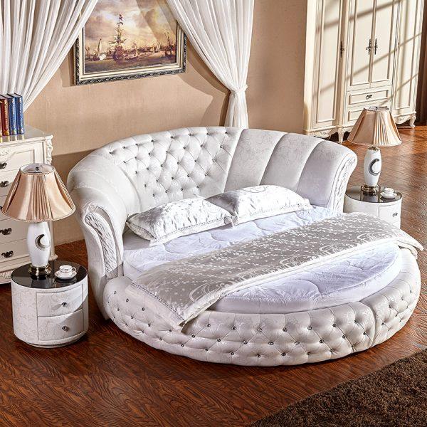 Блеск и роскошь круглой кровати