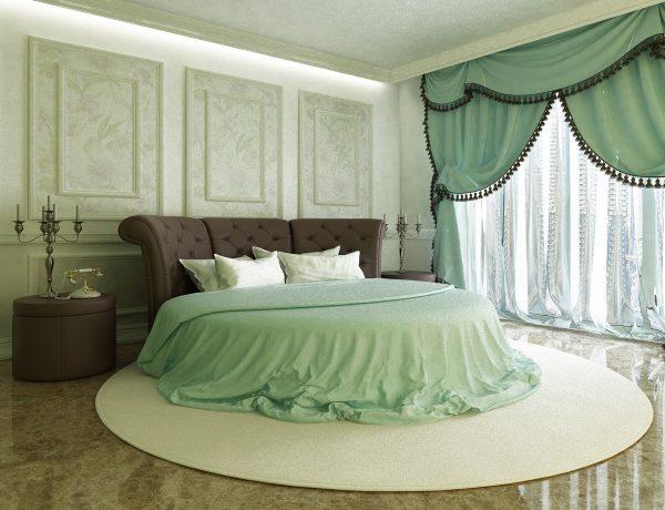 Кровать из натуральной кожи